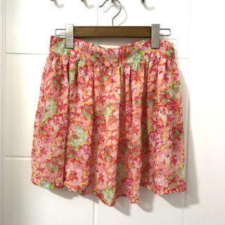包平郵 Zara 碎花短裙 floral skirt pink 粉紅