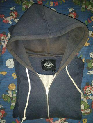 Jual BU jaket zipper navy blankwear ori