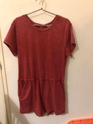 Romper in Faded red color