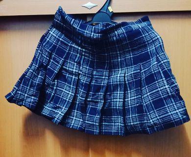 🚚 Blue Checkered Short Skirt