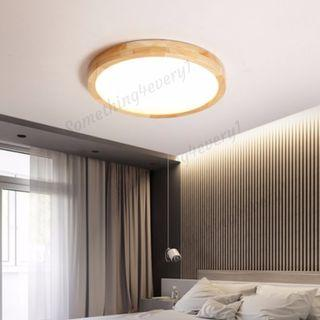 LED Ceiling Light Wood