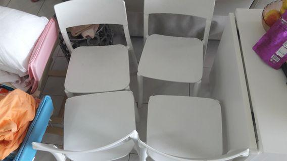 IKEA solid chair. They are mental with a plastic coating.