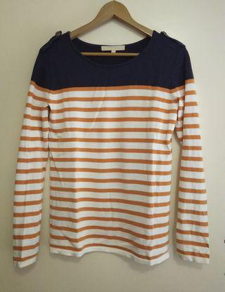 Striped fine knit