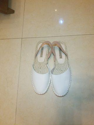 Zara summer 2019 white and pink sling back EUR38 UK 5(used once) great condition just like new