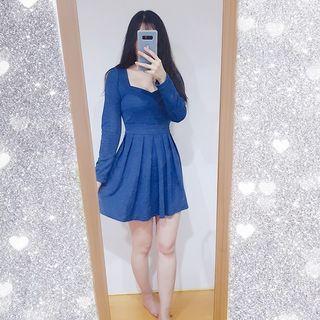 🚚 氣質藍洋裝