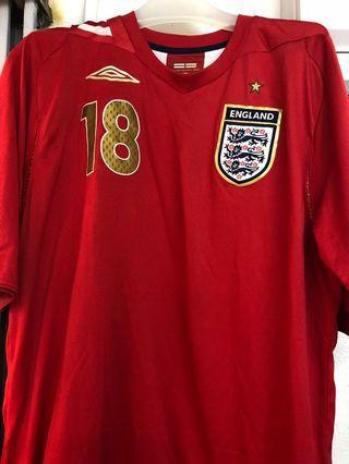 英格蘭國家隊2006至2008作客大碼短袖球衣 18 卡域克 Carrick