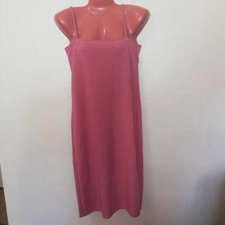 String peach dress
