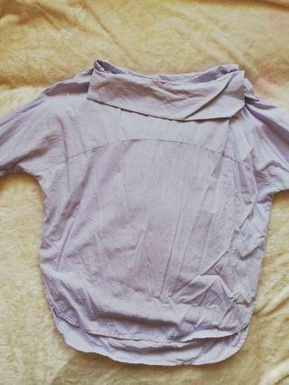 Off shoulder bat wing long sleeves top