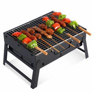 Single-layer grill stainless steel outdoor barbecue camping durable non-stick rack