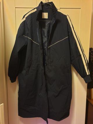 Korean long sporty coat
