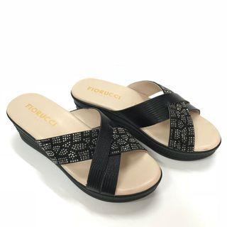NEW Fiorucci Black Sandals