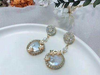 巴洛克珍珠耳環