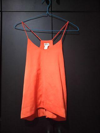 H&M Tanktop Orange ( Warna Unyu )