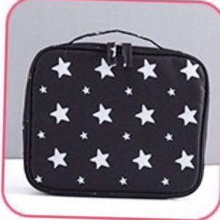 黑色星星大容量手提化妝包