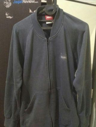 Jaket wadezig zipper blue