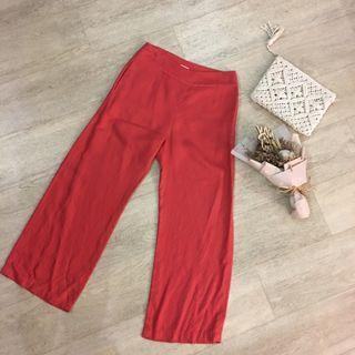 FLASH SALE: Uniqlo Hana Tajima Palazzo Pants in Coral