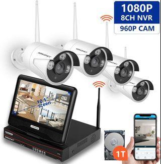 Smonet NVR cctv 4 ip camera with monitor