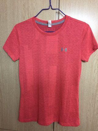全新 女裝Under Armour 橙色運動衫 T-shirt