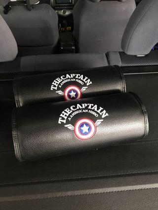 汽車頭枕 頸枕 腰枕 美國隊長 復仇者聯盟 圓柱型枕頭 Captain America Avengers