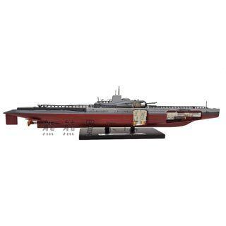 <現貨> 二戰法國潛艦 Surcouf 速科夫大型潛艇 ATLAS 1:350 合金仿真軍艦模型 實物拍攝
