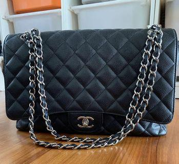 🚚 Preloved Chanel Maxi Caviar Classic Handbag