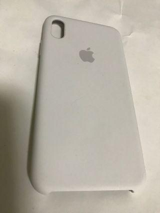 100% Apple Orignial iPhone XS Max Silicone White case 蘋果原裝手機殼