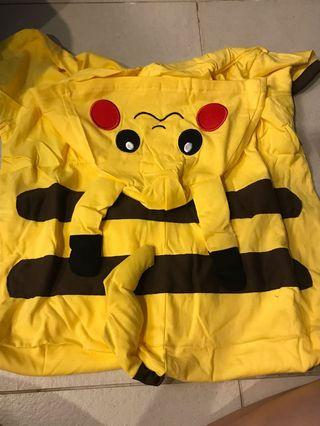 #CarousellxCasetify SUPER CHEAP Pikachu suit short sleeve and knee length with pikachu on hoodie
