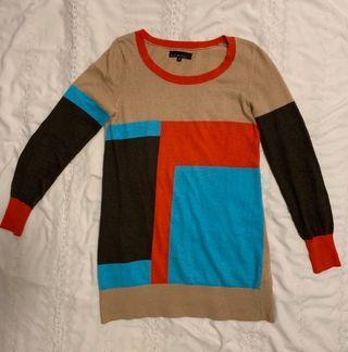 b+ab long sleeve colour top blue red camel greyish brown b + a b