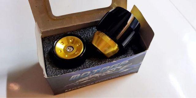 Brand new gold front axle sliders