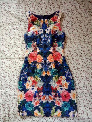 Australian brand FOREVER NEW Floral Jacquard dress