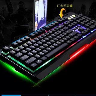 g700有線usb筆記本背光機械手感金屬發光吃雞遊戲電腦鍵盤