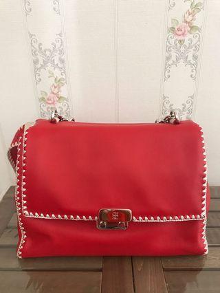 #CarousellxCasetify Carolina Herrera Premium Red leather bag