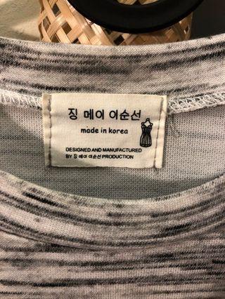 韓 大理石紋 八分袖T恤