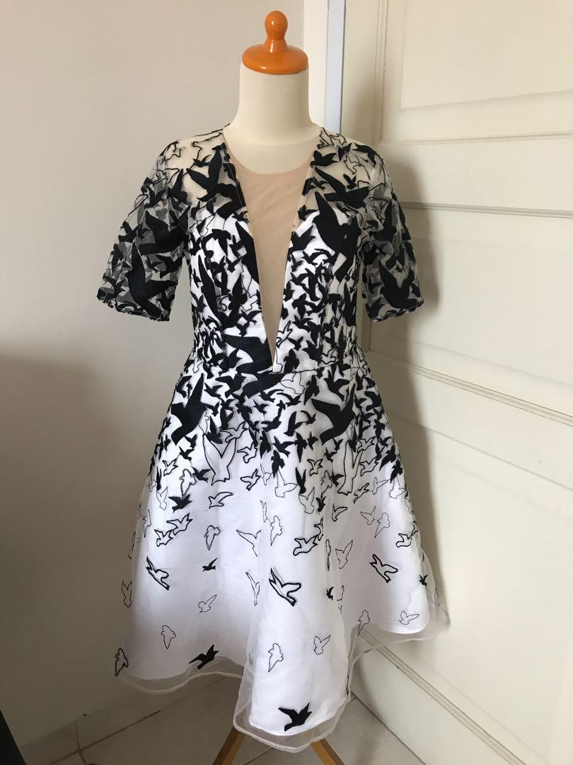 Bellenoir Black Birds White Dress