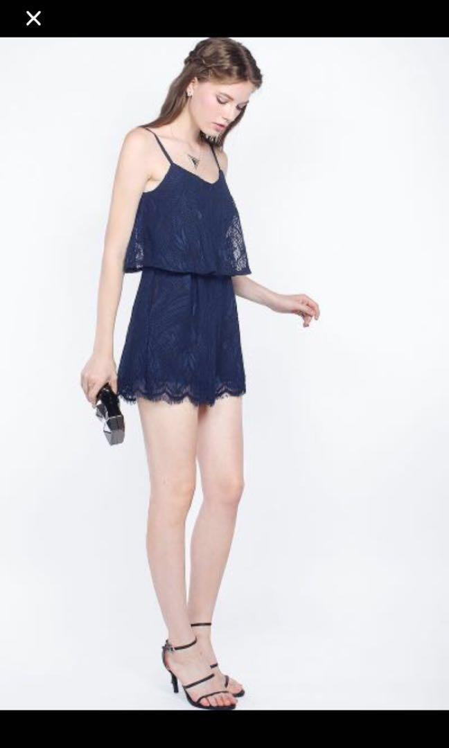 BNWOT Fayth Quintelle Lace Romper Dress