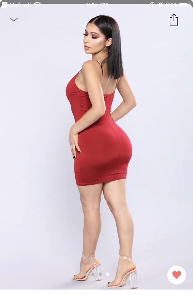 Brand new, red fitted dress/slip