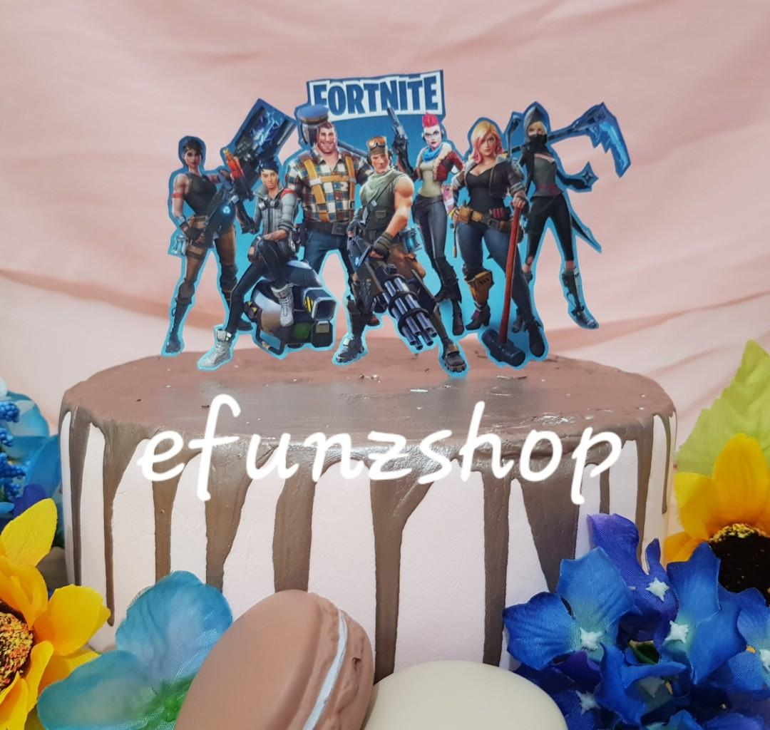 Tremendous Fortnite Birthday Cake Topper Centrepiece Design Craft Funny Birthday Cards Online Alyptdamsfinfo