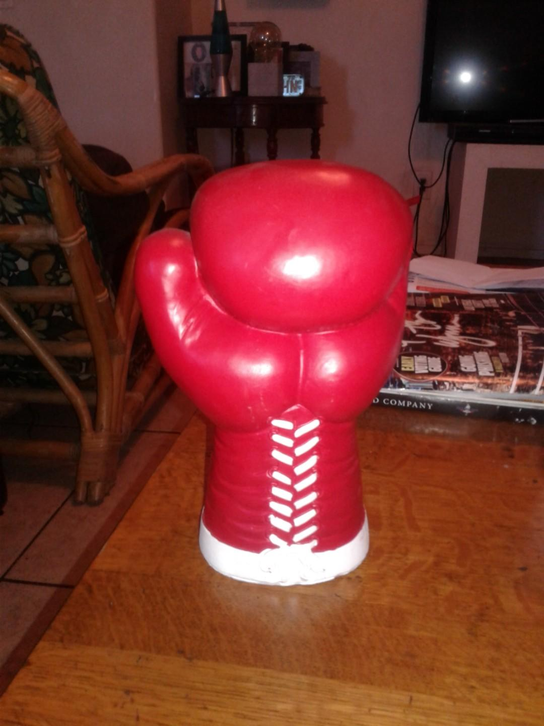 Hand made clay boxing glove