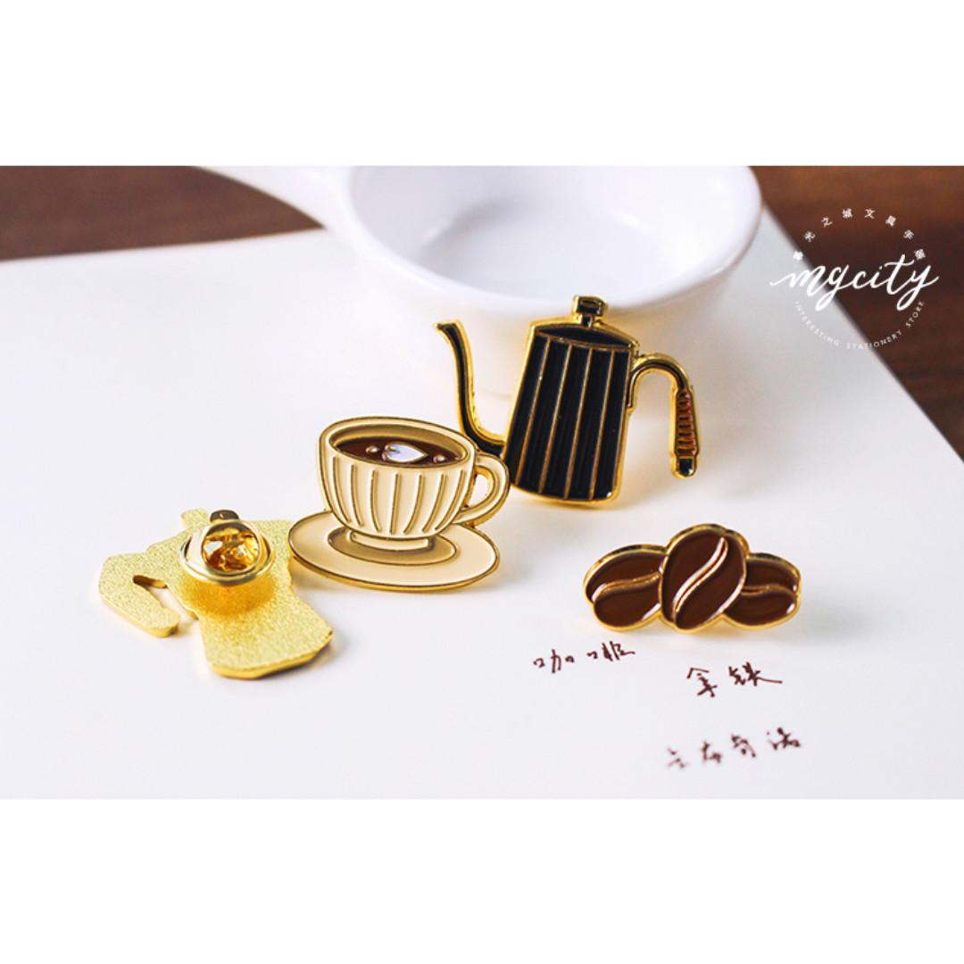 [Instock] Sparkling [Coffee Bean] Pin By MGCITY