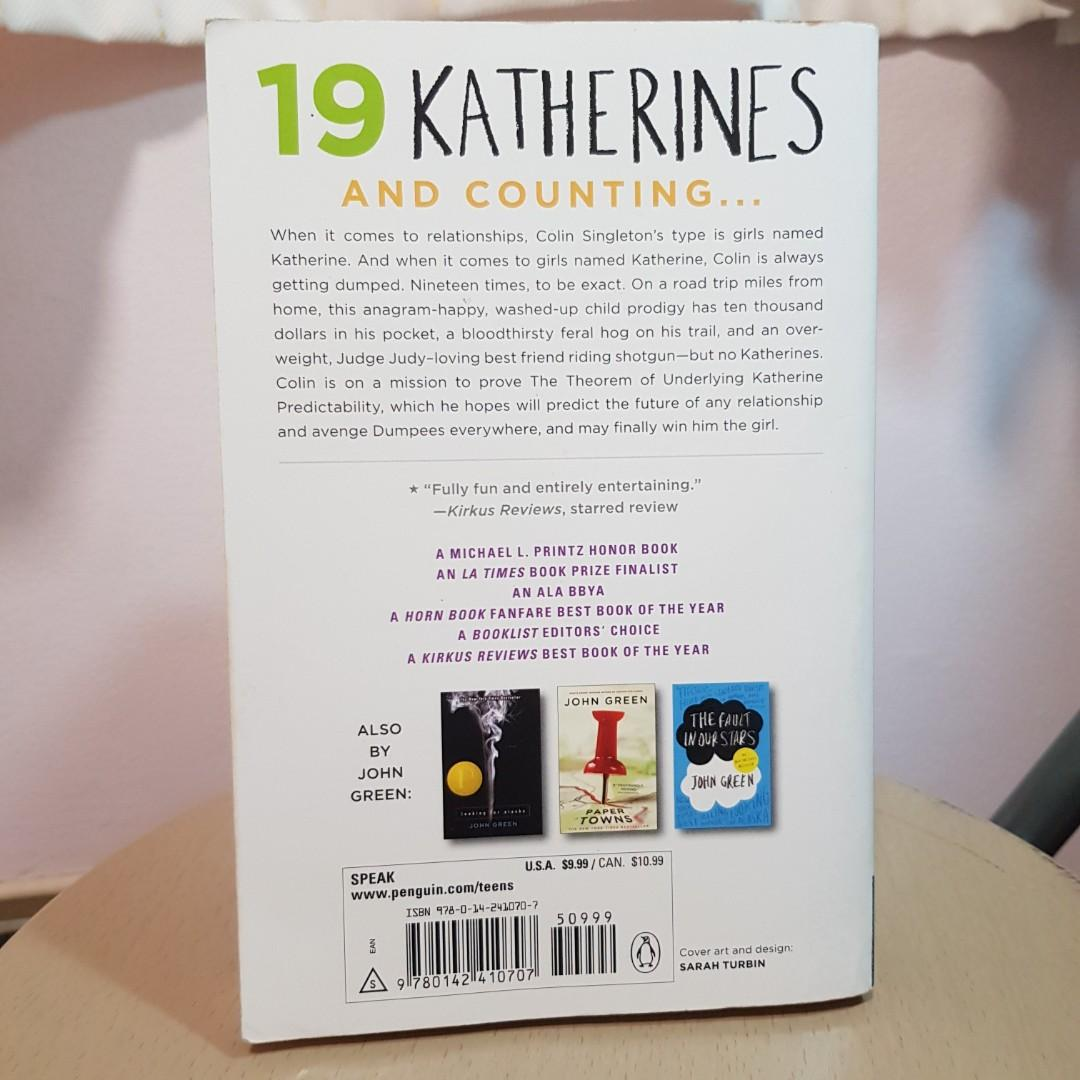 John Green Books (Paper Towns, Looking for Alaska, An Abundance of Katherines)