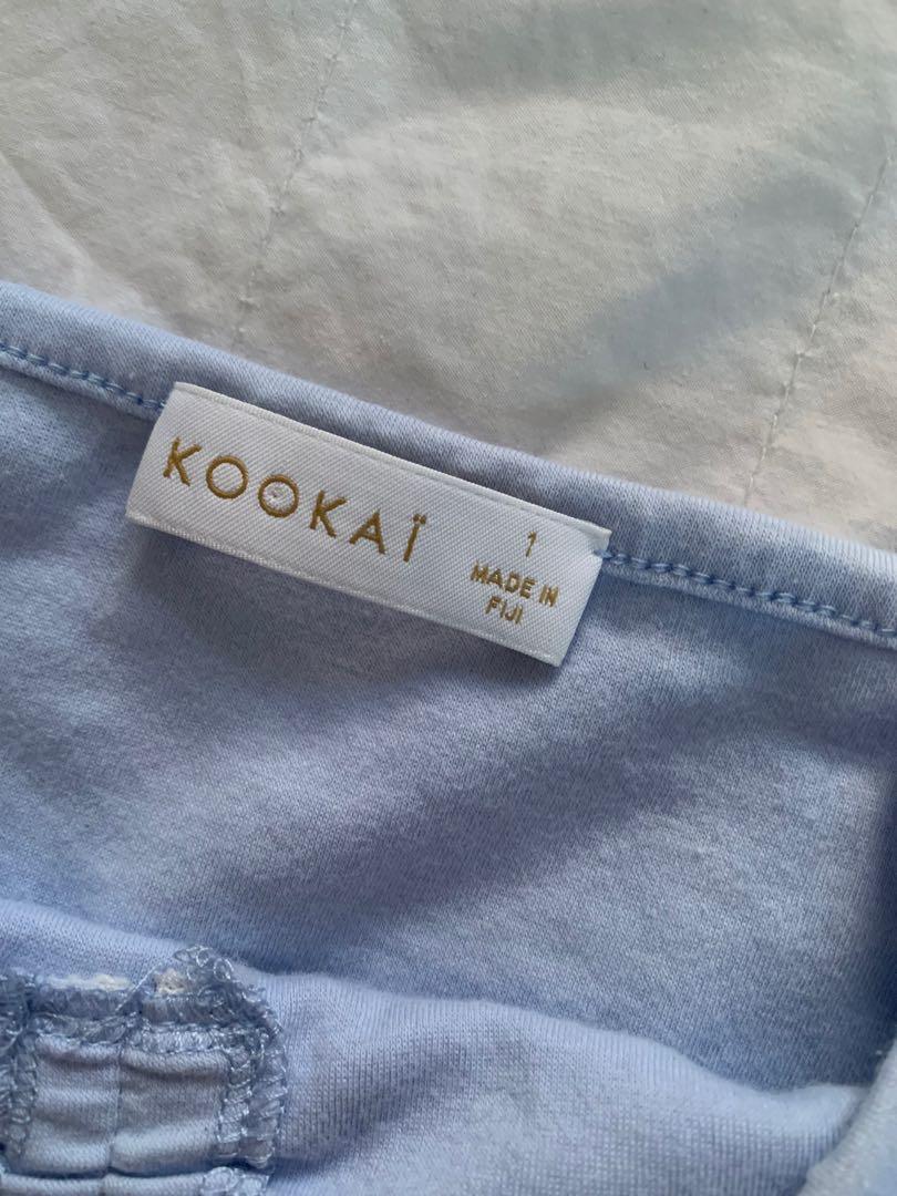Kookai Basics Sweetheart Top in Light Blue - Size 1
