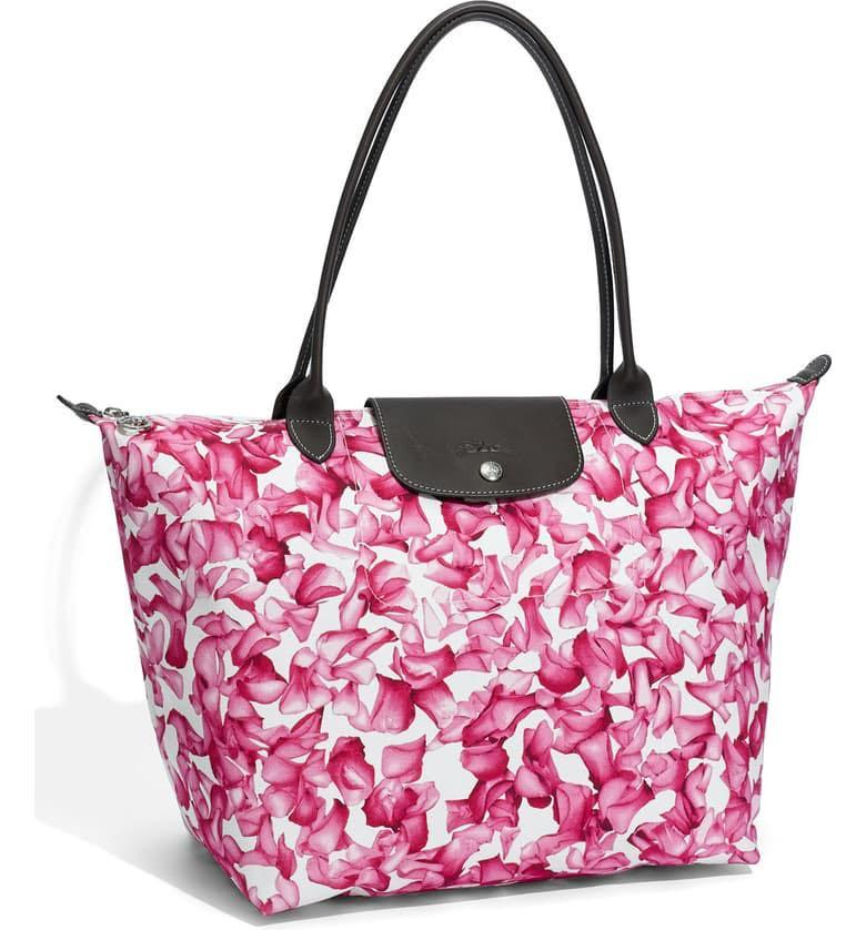 SALE Longchamp limited edition Darshan floral tote