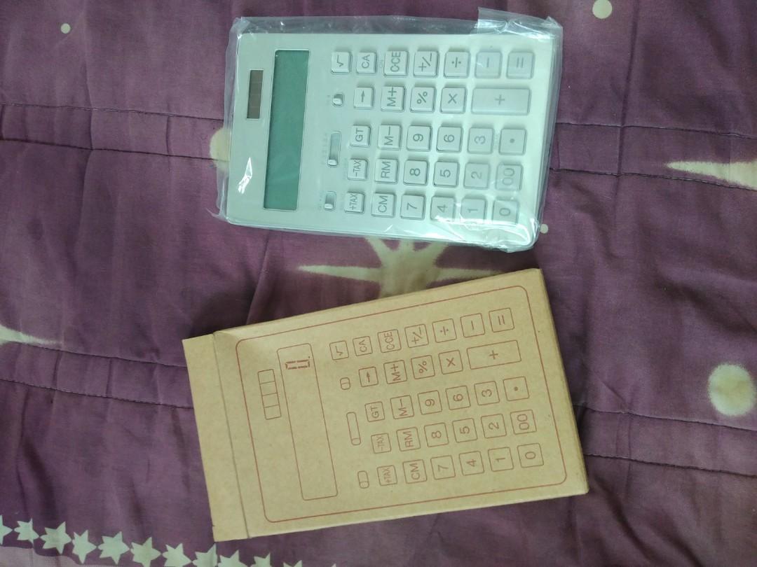 Muji計算機 /大/12位 銀