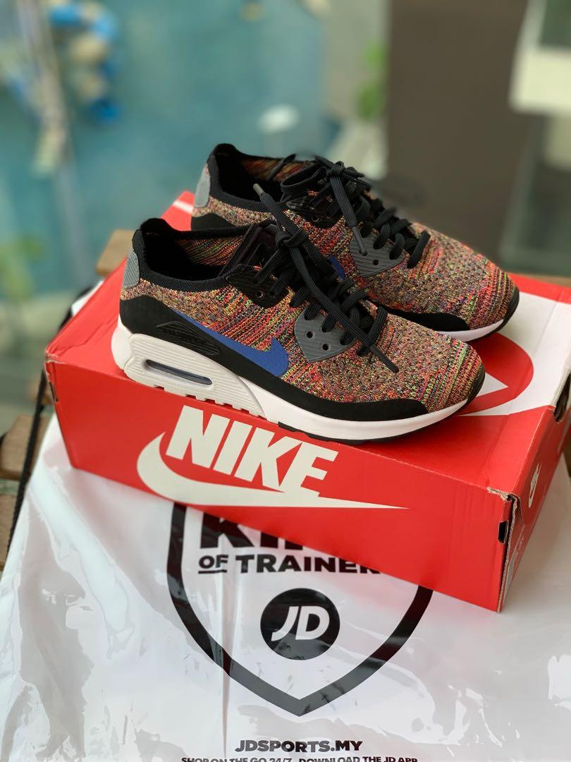 classic fit 28602 4fd37 Nike Airmax 90 Flyknit Multicolour on Carousell