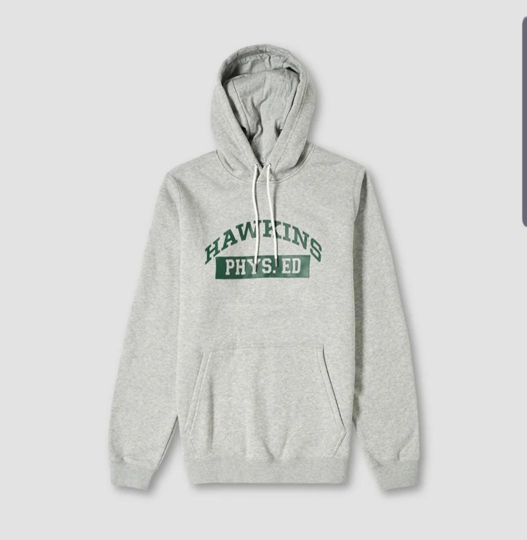 Franco picar recuerda  Nike x Stranger Things Hoodie Grey, Men's Fashion, Clothes, Tops on  Carousell