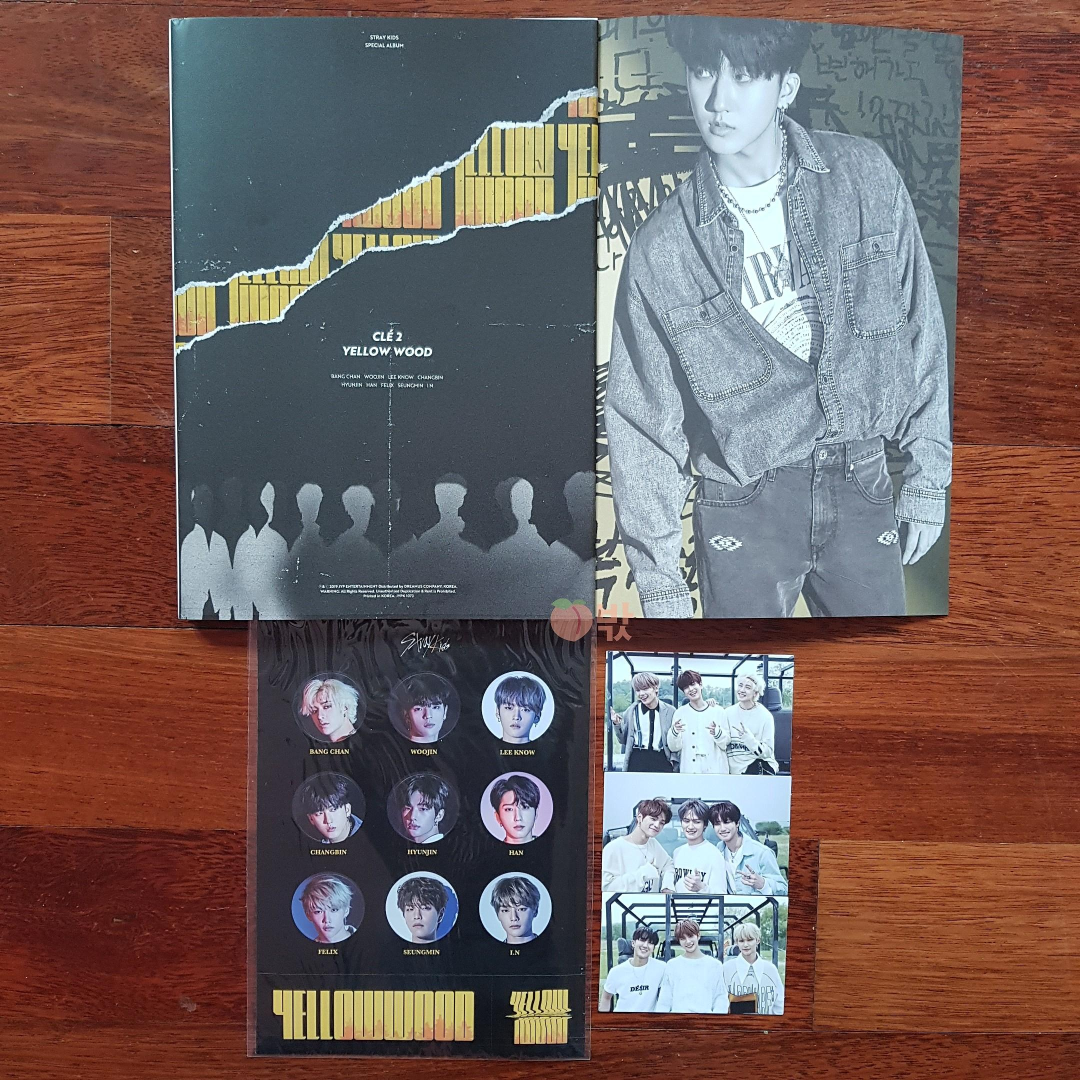 [Ready Stock] STRAY KIDS CLÉ 2 : YELLOW WOOD (LIMITED Ver. Changbin)