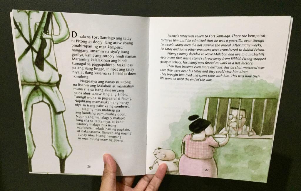 Si Pitong, Noong Panahon ng mga Hapon   Adarna House   English Filipino Bilingual   Children's Book