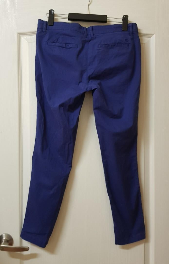 Timberland女生藍色純棉休閒長褲