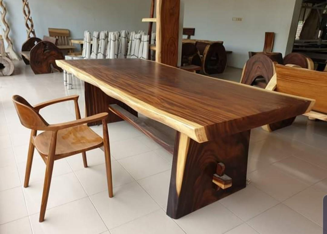 Wooden Table Bench On Carousell