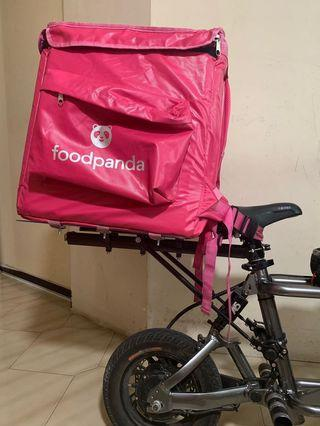 Bag rack for food panda bag (for other food delivery bag too) able to use for pmd's & bicycle *Preorder*( item make over to @revolutionzsg )